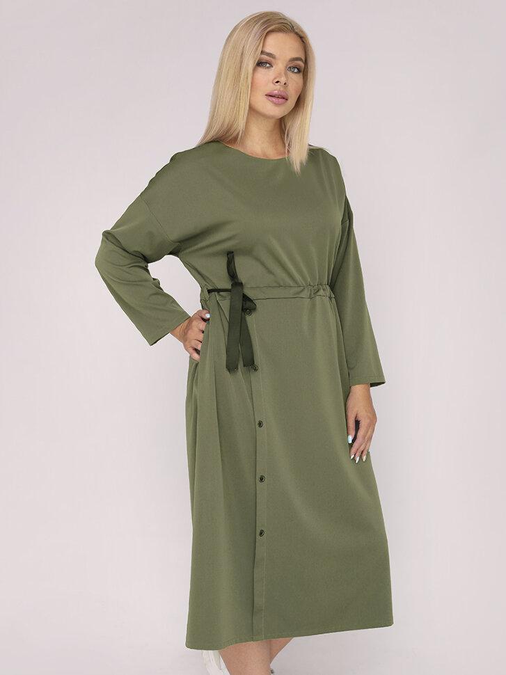 Купить женскую Платье 222 хаки в интернет магазине женской одежды Ellcora в Новосибирске оптом и в розницу
